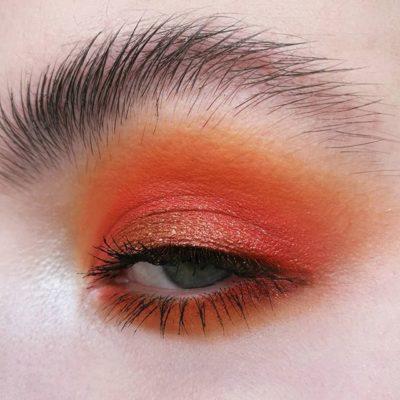 orange juice & glitters eye look onirica