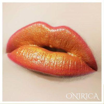 orange juice & glitters lips onirica